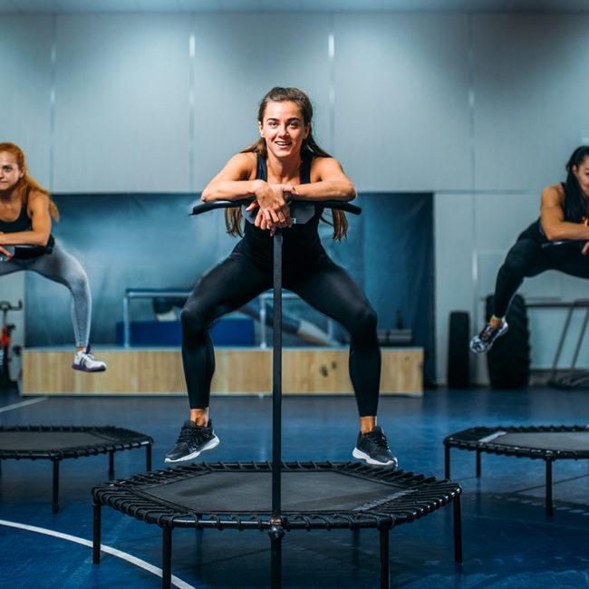 jumping fitness trampolin training fitness gym