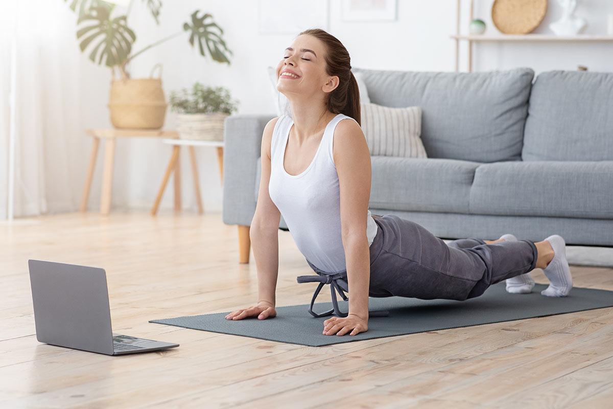 yoga zu hause übungen training
